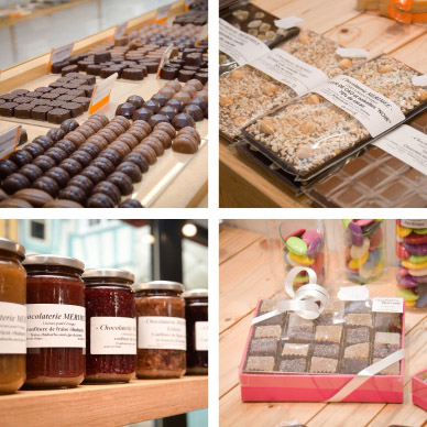 chocolats, tablettes, pâtes de fruits, dragées, confitures, lisieux, normandie